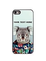 caso de telefone personalizado - koala caso design de metal para iPhone 5 / 5s