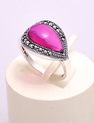 AS 925 Silver Jewelry  Exquisite Hong Gangyu Ring