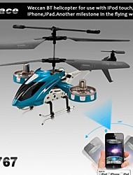 i-contrôle 4 canaux hélicoptère rc avec le compas gyroscopique pour iPhone, iPad et Android