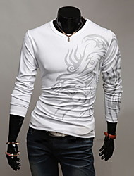 Zizi Men Round Neck Long Sleeve Fitted Base Shirt