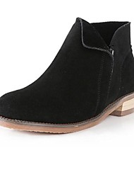 Women's Shoes Round Toe Fashion Boots Leather Low Heel Ankle Boots More Colors available