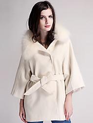 lana bodycon causual tweed abrigo de la mujer Weishang
