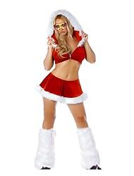 костюм рождества приветствие команды девочек сексуальные юбки женщин установлен с капюшоном
