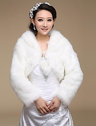 Wedding Wraps Long Sleeve Faux Fur Warm Bridal Wedding Wrap / Evening Jacket Bolero Shrug