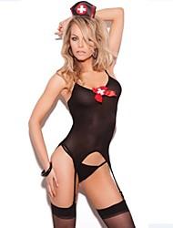 bowknot preto enfermeira amante uniforme sexy