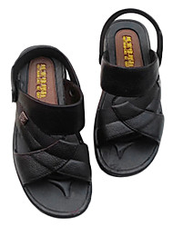 Sapatos Masculinos - Sandálias - Preto / Marrom - Sintético - Casual
