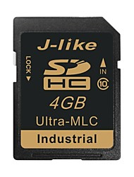 j-like® sdhc sd 4gb memory card ultra-mlc chip industriële kwaliteit