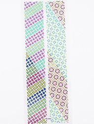 1 * 2pcs 3d design de unhas adesivos decalques pontas das unhas adesivo para decoração de arte do prego prego (19 * 7.5 * 0,1 centímetros)