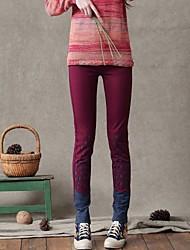 vita normale vita elastica casuale pantaloni lunghi delle donne