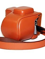 pajiatu pu cuoio della macchina fotografica proteggere la copertura del sacchetto della cassa con porta di ricarica per Sony NEX-5r nex-5t nex-5tl