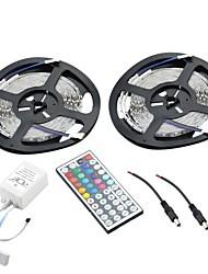 72w 3000lm SMD LED RGB 600-3528 Dekoration Lichtleiste w / 44-Tasten-Controller (2 x 5m)