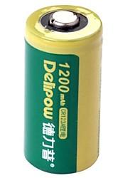 delipow 3v CR123A 1200mah batterie rechargeable au nickel-cadmium