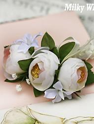 soie de camélia corsages de poignet élastique de mariage (plus de couleurs)