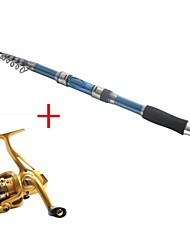3.0M Carbon Blue Sea Fishing Medium Light Fishing Rod & Reel Combos Fishing Reel AF2000 Spinning Fishing Reels