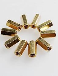 oco de cobre pilar m3 m3 10 mm de altura PCB postes de montagem pilares m3 hexagonais * 10 double pass (20pcs)