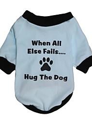 T-shirt voor honden / katten Blauw Lente/Herfst XS / S / M / L Katoen