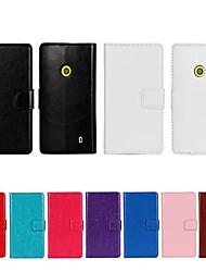 Pour Coque Nokia Portefeuille Porte Carte Avec Support Coque Coque Intégrale Coque Couleur Pleine Dur Cuir PU pour Nokia Nokia Lumia 520