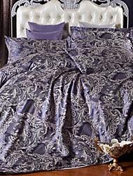 betterhome duvet cover capa de edredão set conforto luxo moderno 4 peça jacquard de seda faux completo
