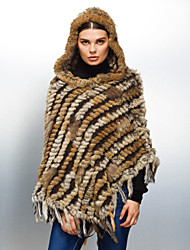 Fur Wraps / Hoods & Ponchos Ponchos Feather/Fur Black / Brown / Gray Party/Evening / Casual Tassels