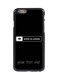 Personalized Phone Case - Smile to Unlock Design Metal Case for iPhone 6