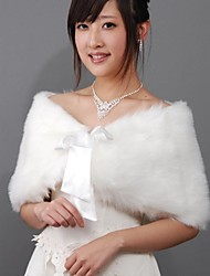 Fur Wraps / Wedding  Wraps Shrugs Faux Fur As Picture Shown Wedding / Party/Evening Bow