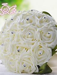 Wedding Flowers Bridal Bouquet Silk Rose Artificial Flower Bouquet Wedding Decorative Bridesmaid Flower Bouquet