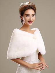 Warm Faux Fur Wedding Shawl(More Colors)