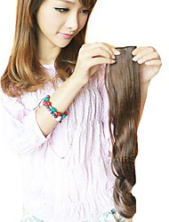 larga sintética ondulada y clip en la extensión del pelo con 2 clips y 5 piezas de un paquete (más colores)