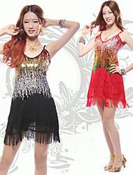 Dancer Shower Tassel Paillette Low-cut Slip Dress Women's Costume