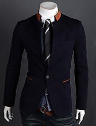 manches longues stand Mode Slim costume de tempérament de collier le blazer d'hommes Bigman