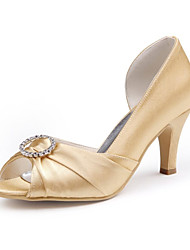 Dames Bruiloft Schoenen Hoge hakken hoge hakken Huwelijk Zwart/Blauw/Roze/Paars/Rood/Ivoor/Wit/Zilver/Goud/Champagne