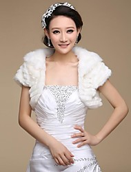 Fur Wraps / Wedding  Wraps Shrugs Short Sleeve Faux Fur Wedding / Party/Evening Open Front