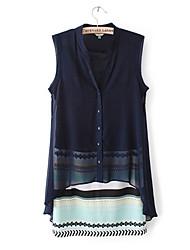 Mufans Women's Stripe Sleeveless Dress 1432#