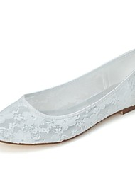 Women's Spring Summer Lace Wedding Party & Evening Flat Heel Black Pink Ivory White