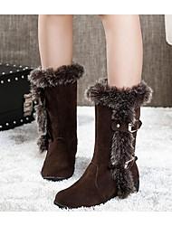 winble Schneeschuhe runde Kappe niedrige Ferse zur Mitte der Wade Stiefel