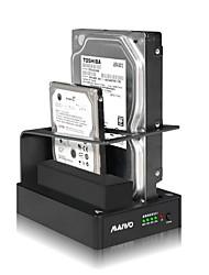 """maiwo 2.5 """"/3.5"""" SATA HDD USB3.0 2Compartimento docking station disco rígido duplicador k304u3"""