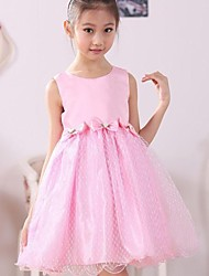 Girl's Cotton/Lace/Organza Dress , Summer/Spring Sleeveless