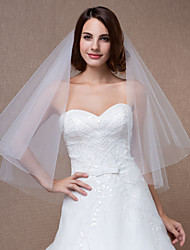 véus de noiva uma camada redondos