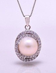 AS 925 Silver Jewelry   White Pearl Pendant