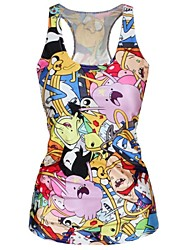 Cartoon Adventure Tank Top Dress Night Club Sexy Uniform