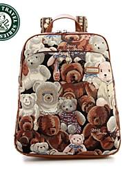 Daka bear® sacchetti di scuola zaino di tela per il tempo libero zaini scuola studente per adolescenti laptop donne zaino