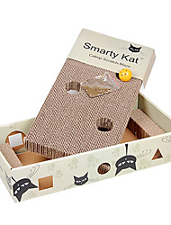 Box Shaped With Hole And Ball Toys For Pet Cats