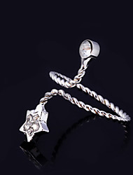 Ring Women's Rhinestone Alloy Alloy One Size As the Picture
