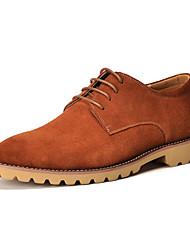 Scarpe da uomo Casual Di pelle Stringate Nero/Marrone/Arancione