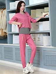 Women's Temperament Sports Leisure Hooded Suit (Vest&Hoodie&Pants)