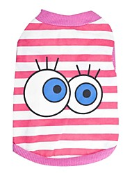 Lovely Big Eyes Pattern 100% Cotton Vest for Pets Dogs (Assorted Color Assorted Sizes)
