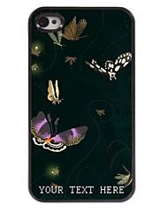 personalizzato del telefono caso - farfalla caso di disegno del metallo per il iphone 4 / 4s