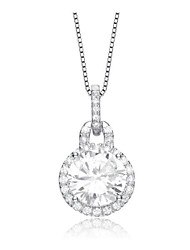круглый CZ кулон ожерелье для женщин