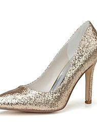 Women's Wedding Shoes Pointed Toe Heels Wedding/Party & Evening Black/Silver/Gold