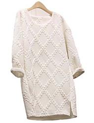 ledise women'snew algodão coreano vestido fino solto